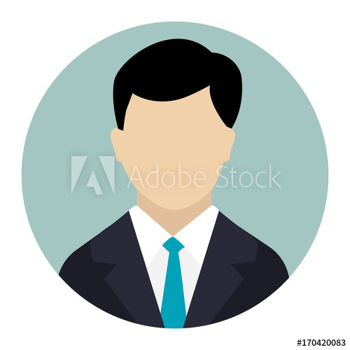 500x500 User Icon, Male Avatar In Business Suit Vector Flat Design