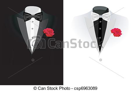 450x313 Vector Black Business Suit On Black And On White Background.