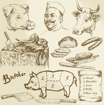 364x368 Free Vector Meat Butcher Free Vector Download (202 Free Vector