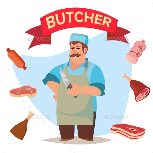 590x590 Professional Butcher Vector By Pikepicture Graphicriver