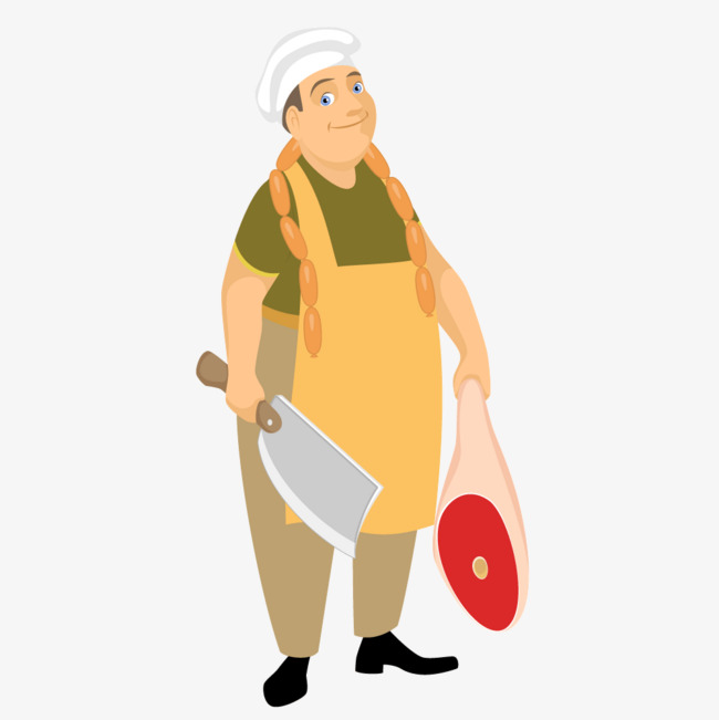 650x651 Butcher Meat Hawker, Butcher, Meat, Peddler Png And Vector For