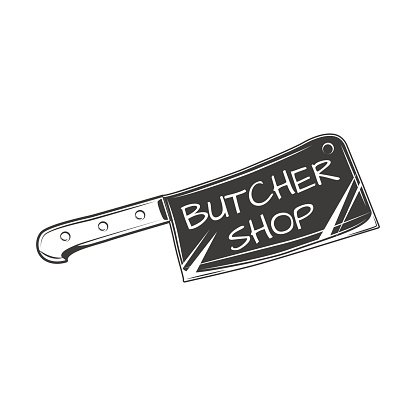 416x416 Butcher Vector Isolated On White Premium Clipart