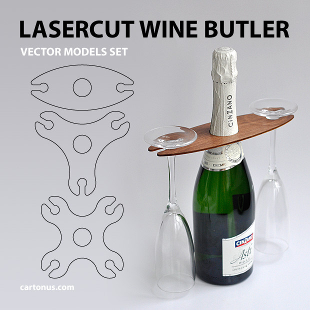 620x620 Wine Butler 3d Cad Model Library Grabcad