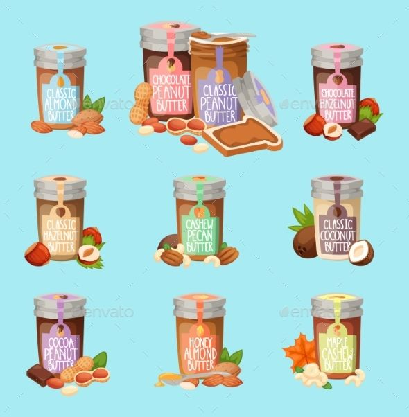 590x602 Nut Butter Vector Illustration Nut Butter, Butter And Illustrations