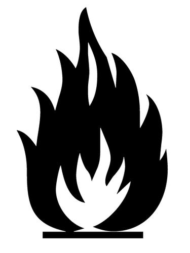 375x500 Buy Vector Flammable Icon Logo Graphic Royalty Free Vectors