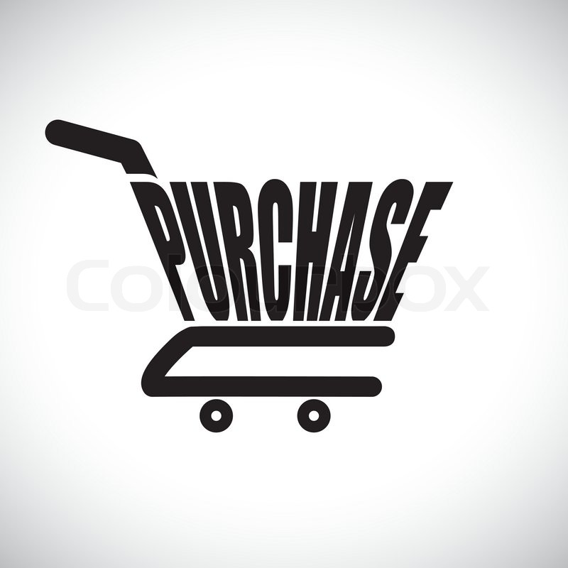 800x800 Concept Illustration Of Shopping Cart With The Word Purchase The