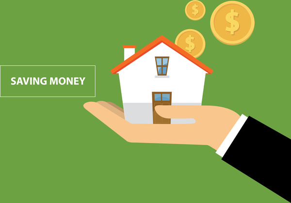 600x419 Saving Money To Buy A House Free Vector In Adobe Illustrator Ai
