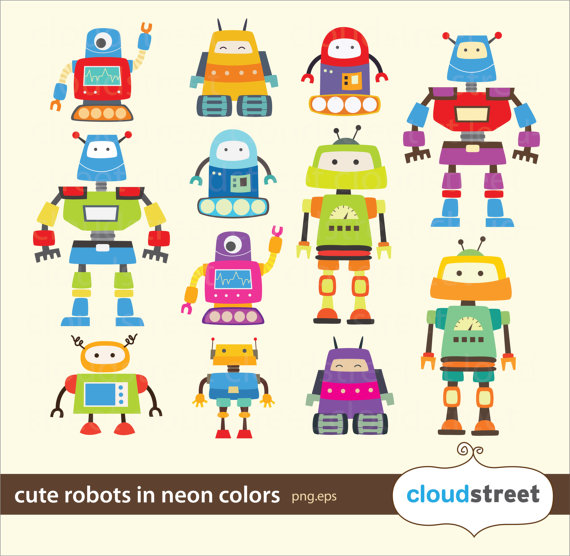 570x556 Robot Clipart Vector Art ~ Frames ~ Illustrations ~ Hd Images