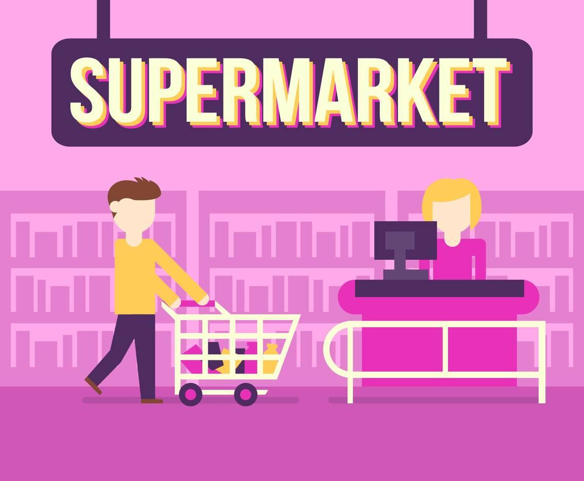 1136x936 Supermarket Shop Buy Vector Illustration Vector Art Amp Graphics