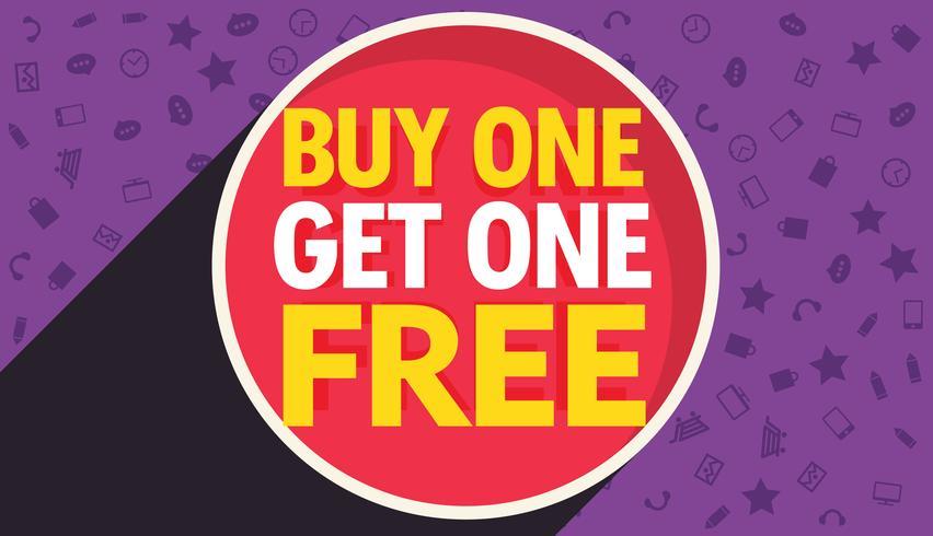 852x490 Buy One Get One Free Discount Voucher Vector Design Template