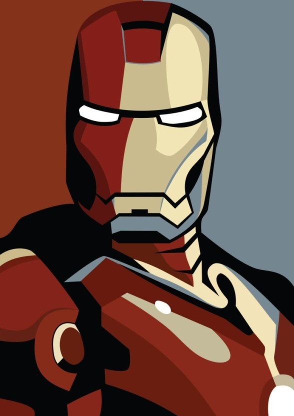 588x832 Athah Comic Poster Iron Man Vector Art Poster Paper Print Rolled