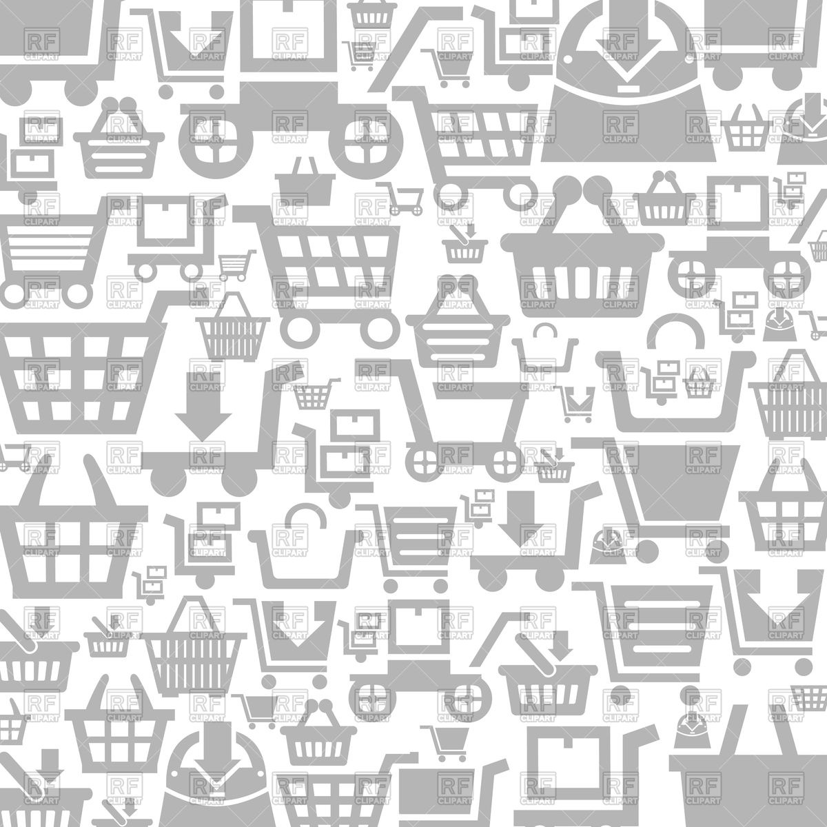 1200x1200 Background Made Of Shopping Carts Vector Image Vector Artwork Of