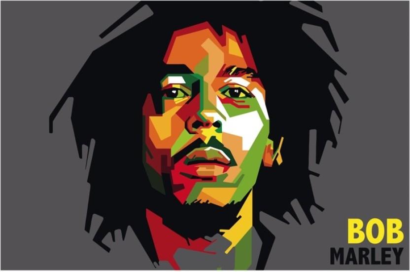 832x551 Bob Marley Vector Art Poster Paper Print