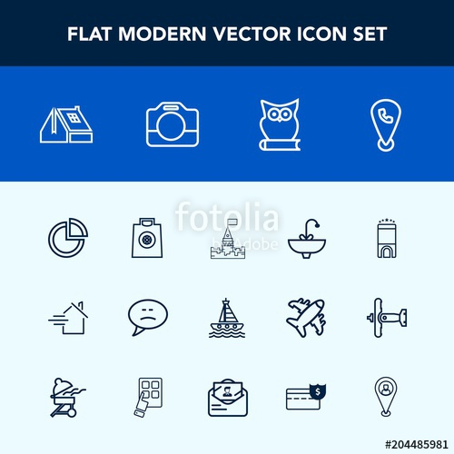 500x500 Modern, Simple Vector Icon Set With Speech, Luxury, Buy, Water