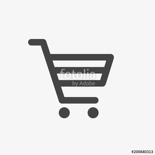 500x500 Shopping Cart Vector Icon. Online Shop, Market, Shopping, Bag, Buy