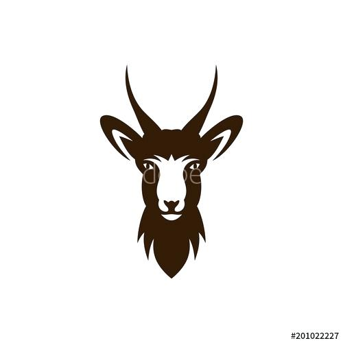 500x500 Deer Vector Illustration Deer Head Logo Template Buy This Stock