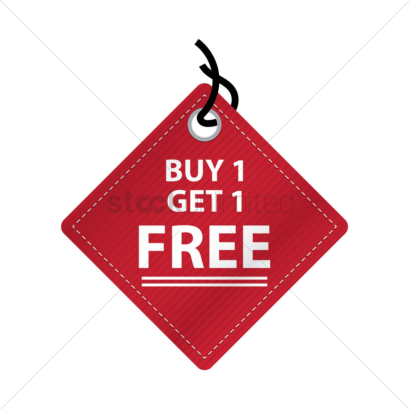 1300x1300 Free Buy One Get One Free Tag Vector Image