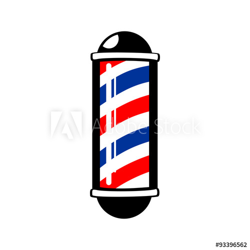500x500 Barber Pole Vector Barbers Pole Buy This Stock Vector And Explore