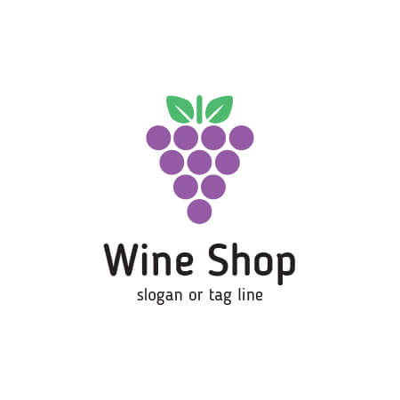 450x450 Buy Wine Shop Logo Template. A Modern And Professional Vector Logo