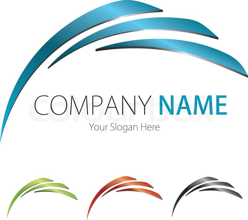800x707 Company (Business) Logo Design, Vector, Arc Stock Vector Colourbox
