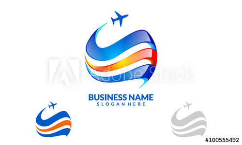 500x300 Global Travel And Tour Vector Logo Design 4 Buy This Stock Cheap