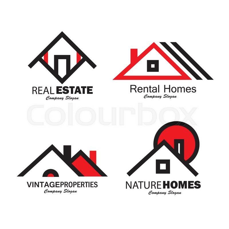 800x800 Set Of Line Icons Of Buildings Vector Logos. This Also Represents