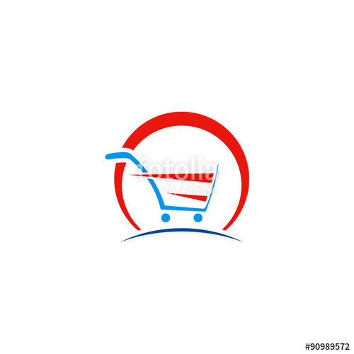 500x500 Shopping Cart Abstract Buy Speed Logo Stock Image And Royalty