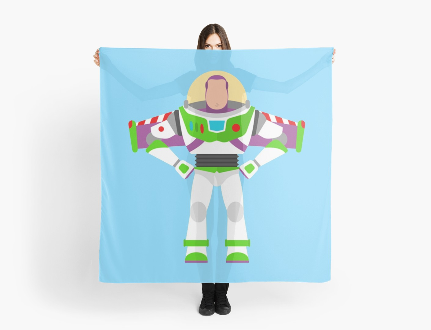 1411x1080 Buzz Lightyear Vector Scarves By Snippypie Redbubble