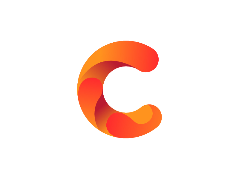 800x600 Letter C Logo. Alphabet Logotype Vector Design By Akhmad Zein