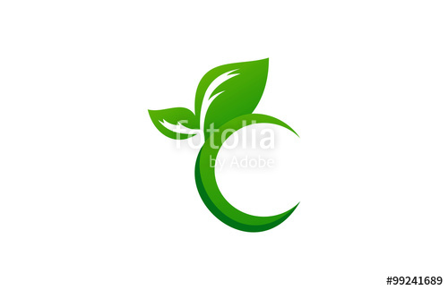 500x324 Green Leaf Letter C Logo Stock Image And Royalty Free Vector