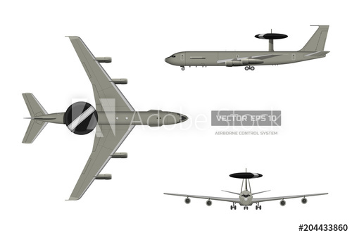 500x334 3d Image Of Military Aircraft. Top, Front And Side Jet View. Army