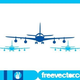 340x340 Airplane Silhouette Vectors Download Free Vector Art
