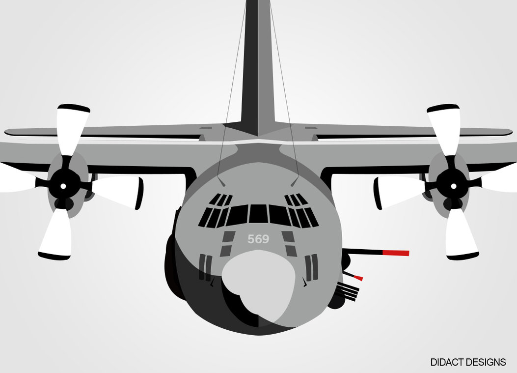 1053x759 Ac 130 Vector Design By Didactdesigns
