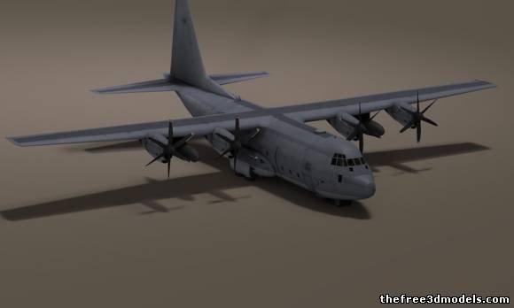 580x348 Us C 130 Hercules Airplane Free 3d Model