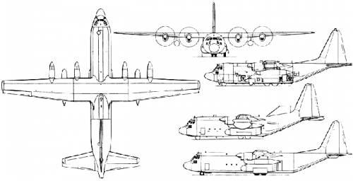 500x256 Blueprints Gt Modern Airplanes Gt Lockheed Gt Lockheed C 130 Hercules