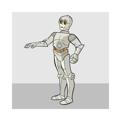 400x400 C3po Logo Vector (.eps, 418.62 Kb) Download