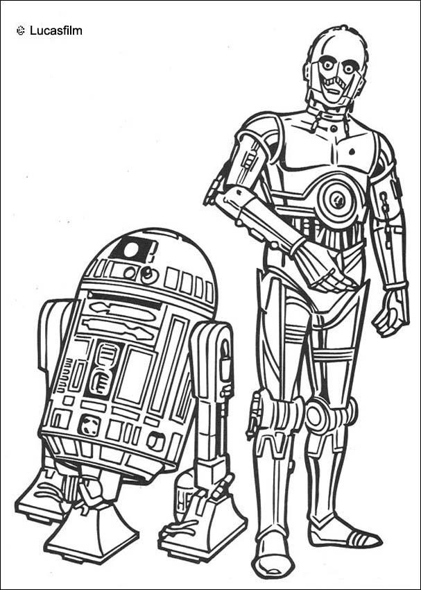607x850 R2 D2 And C 3po Coloring Pages