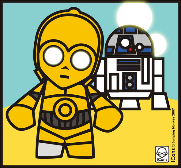 591x550 R2d2 And C3po By Jumpingmonkey