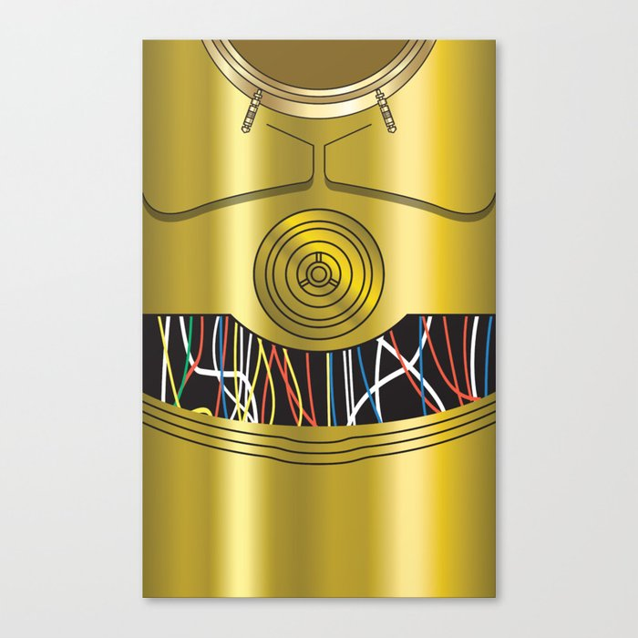 700x700 Star Wars C3po Vector Canvas Print By Ironman52885 Society6
