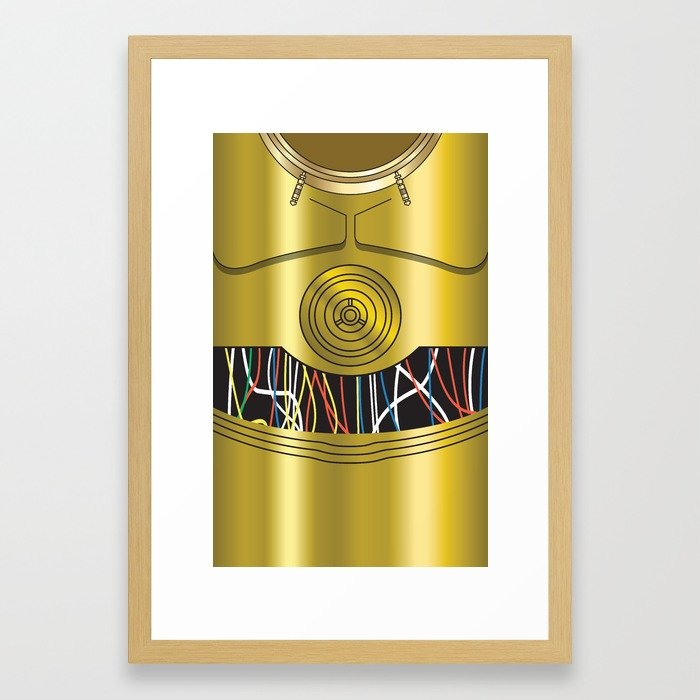 700x700 Star Wars C3po Vector Framed Art Print By Ironman52885 Society6