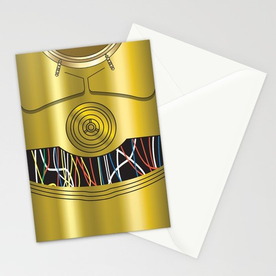 550x550 Star Wars C3po Vector Stationery Cards By Ironman52885 Society6