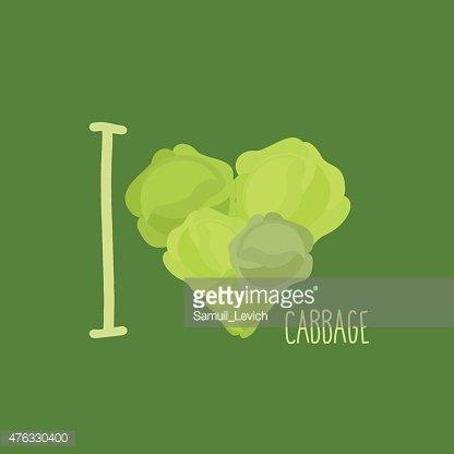 416x416 I Love Heart Of Green Vector Illustration Premium Clipart