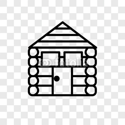 400x400 Cabin Vector Icon Isolated On Transparent Background, Cabin Logo