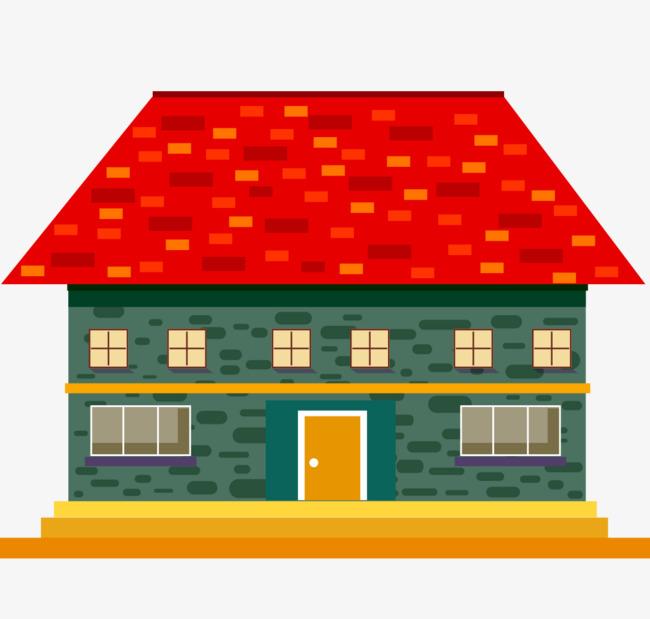 650x619 Cartoon Brick, Brick House, Cabin, Vector Material Png And Vector