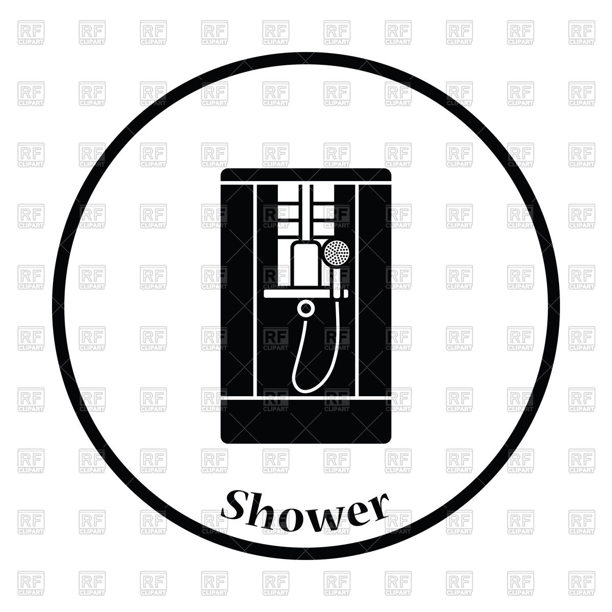 1200x1200 Icon Of Shower Cabin Vector Image Vector Artwork Of Icons And