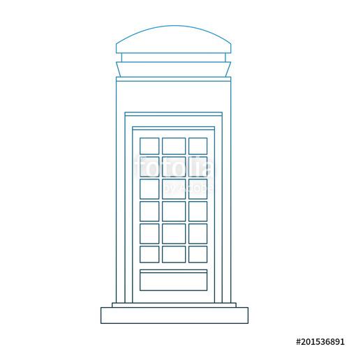 500x500 London Telephone Cabin Vector Illustration Graphic Design Stock