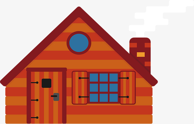 650x417 Striped Cabin, Vector Png, Log Cabin, Country Cottage Png And