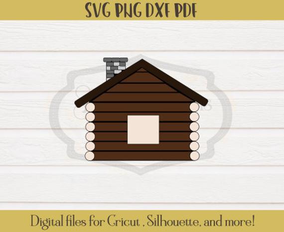 570x466 Cabin Svg Cabin Clipart Cabin Vector Camping Svg Cricut Etsy
