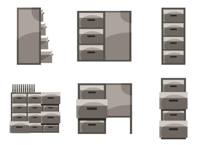 700x490 File Cabinet Vector
