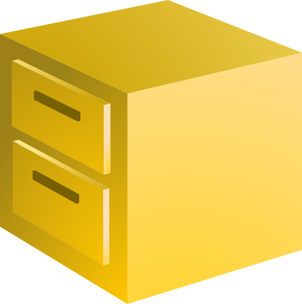 594x597 Filing Cabinet Clip Art